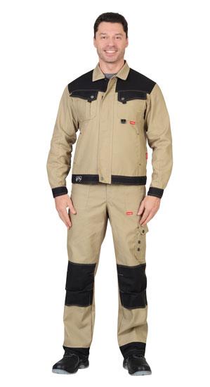 Куртка ВЕСТ-ВОРК короткая, бежевая с черным